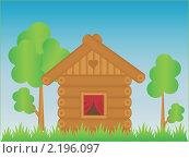 Деревянный домик. Стоковая иллюстрация, иллюстратор Королева Елена Викторовна / Фотобанк Лори