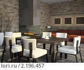 Интерьер гостиной с камином, иллюстрация № 2196457 (c) Hemul / Фотобанк Лори