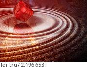 Купить «Абстрактный красный 3D фон с кубиком», иллюстрация № 2196653 (c) Марина Рядовкина / Фотобанк Лори