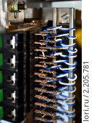 Купить «Коммутационное  оборудование», фото № 2205781, снято 1 января 2009 г. (c) Юлия  Лесина / Фотобанк Лори