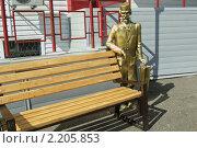 Купить «Скульптура Айболита около скамейки. г. Кемерово.», фото № 2205853, снято 3 июня 2008 г. (c) Цибаев Алексей / Фотобанк Лори