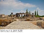 Купить «Руины храма Звартноц, Армения», фото № 2207529, снято 8 августа 2010 г. (c) Андрей Востриков / Фотобанк Лори