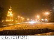 Ночной город г. Кривой Рог (2009 год). Редакционное фото, фотограф Сергей Шульгин / Фотобанк Лори