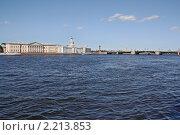 Купить «Мост через Неву и набережная. Санкт-Петербург», фото № 2213853, снято 16 августа 2010 г. (c) Емельянов Валерий / Фотобанк Лори