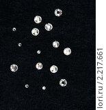 Купить «Бриллианты на черном бархате», фото № 2217661, снято 10 декабря 2010 г. (c) Руслан Кудрин / Фотобанк Лори