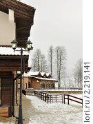 Дом в альпийском стиле, зима (2010 год). Стоковое фото, фотограф Анна Мартынова / Фотобанк Лори