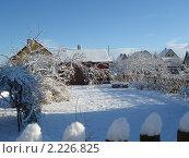 Отличный зимний день на даче. Стоковое фото, фотограф Александр Новиков / Фотобанк Лори