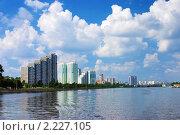 Набережная Москвы-реки в районе Нагатино (2006 год). Стоковое фото, фотограф Михаил Марковский / Фотобанк Лори