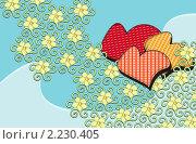 Цветы и сердца. Стоковая иллюстрация, иллюстратор Mihhail Fainstein / Фотобанк Лори