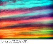 Небо закат. Стоковая иллюстрация, иллюстратор Фомченкова Юлия / Фотобанк Лори
