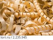 Купить «Фон из древесных стружек крупным планом», фото № 2235945, снято 4 августа 2010 г. (c) Андрей Некрасов / Фотобанк Лори