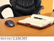 Купить «Рабочее место бизнесмена», фото № 2236501, снято 13 октября 2010 г. (c) Андрей Липко / Фотобанк Лори