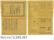 Купить «Школьная ведомость оценки знаний и поведения. 1976 год.», фото № 2243261, снято 20 февраля 2020 г. (c) Игорь Яковлев / Фотобанк Лори