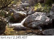 Водопад на реке Эликонас. Стоковое фото, фотограф Максим Шагалов / Фотобанк Лори