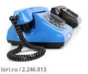 Купить «Два старых телефона», фото № 2246813, снято 23 декабря 2010 г. (c) Валерий Александрович / Фотобанк Лори