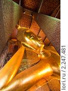 Купить «Статуя лежащего будды в храме Ват По, Бангкок, Таиланд», фото № 2247481, снято 10 декабря 2010 г. (c) Николай Винокуров / Фотобанк Лори