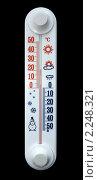 Термометр на черном фоне. Стоковое фото, фотограф Игнатьева Алевтина / Фотобанк Лори