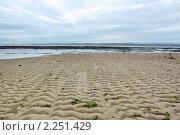 Купить «Морской пейзаж с песчаными дюнами», эксклюзивное фото № 2251429, снято 14 мая 2010 г. (c) Татьяна Белова / Фотобанк Лори