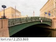 Купить «Певческий мост через  реку Мойку», эксклюзивное фото № 2253869, снято 15 марта 2009 г. (c) Александр Алексеев / Фотобанк Лори