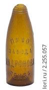 Купить «Стеклянная бутылка 19 века из под пива», фото № 2255057, снято 21 декабря 2010 г. (c) Михаил Иванов / Фотобанк Лори