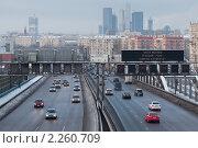 Купить «Свободное третье транспортное кольцо в Москве», фото № 2260709, снято 5 января 2011 г. (c) Михаил Иванов / Фотобанк Лори