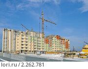 Купить «Строительство многоэтажных жилых домов», эксклюзивное фото № 2262781, снято 6 января 2011 г. (c) Ольга Пашкова / Фотобанк Лори