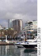 Сочи, высотное строительство в прибрежной зоне (2011 год). Стоковое фото, фотограф Анна Мартынова / Фотобанк Лори
