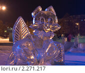 Купить «Ледяная скульптура. Красноярск», фото № 2271217, снято 9 января 2011 г. (c) Типляшина Евгения / Фотобанк Лори