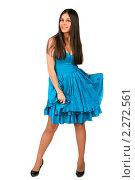 Девушка в голубом платье. Стоковое фото, фотограф Антон Романов / Фотобанк Лори
