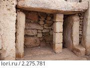 Купить «Доисторический храм Мнайдра, построеный в 3600-2500  г. до н.э. Мальта», фото № 2275781, снято 19 декабря 2010 г. (c) Яков Филимонов / Фотобанк Лори