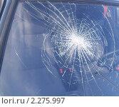 Разбитое стекло автомобиля. Стоковое фото, фотограф Крутиков Сергей / Фотобанк Лори