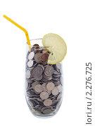 Купить «Коктейль из монет», фото № 2276725, снято 29 августа 2010 г. (c) Дмитрий Брусков / Фотобанк Лори