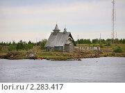 Купить «Деревянная часовенка на берегу Белого моря», фото № 2283417, снято 25 июля 2010 г. (c) Наталья Волкова / Фотобанк Лори