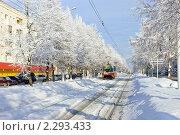 Купить «Уфа, зимняя улица», фото № 2293433, снято 16 января 2010 г. (c) Владимир Ковальчук / Фотобанк Лори