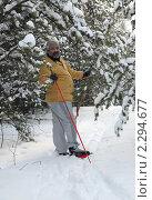 Купить «Лыжные прогулки по заснеженному лесу», фото № 2294677, снято 23 января 2011 г. (c) Светлана Кузнецова / Фотобанк Лори