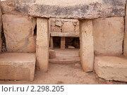 Купить «Доисторический храм Мнайдра, построеный в 3600-2500  г. до н.э. Мальта», фото № 2298205, снято 19 декабря 2010 г. (c) Яков Филимонов / Фотобанк Лори
