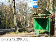Купить «Сельская автобусная остановка», фото № 2299305, снято 16 октября 2008 г. (c) Александр Мишкин / Фотобанк Лори