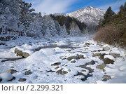 Купить «Горная река зимой», фото № 2299321, снято 4 января 2011 г. (c) Виктория Катьянова / Фотобанк Лори