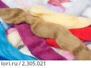 Купить «Цветная шерсть для мокрого валяния», эксклюзивное фото № 2305021, снято 9 июля 2010 г. (c) Шичкина Антонина / Фотобанк Лори