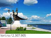 Купить «Онего - памятник на набережной Онежского озера в Петрозаводске», фото № 2307905, снято 17 июня 2006 г. (c) Михаил Марковский / Фотобанк Лори