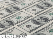 Фон из 100 долларовых банкнот. Стоковое фото, фотограф Андрей Алпатов / Фотобанк Лори
