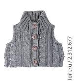 Купить «Серый вязаный жилет», фото № 2312677, снято 27 января 2011 г. (c) Руслан Кудрин / Фотобанк Лори