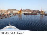 Купить «Танкер в грузовом порту», фото № 2315297, снято 13 апреля 2010 г. (c) Losevsky Pavel / Фотобанк Лори