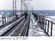 Зимний мост. Стоковое фото, фотограф Сергей Шульгин / Фотобанк Лори