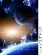 Купить «Вспышка в космосе», иллюстрация № 2319089 (c) Лукиянова Наталья / Фотобанк Лори