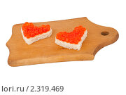Бутерброды с красной икрой. Стоковое фото, фотограф Вадим Карпусь / Фотобанк Лори