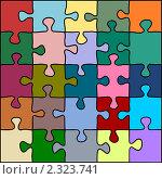 Купить «Разноцветный пазл», иллюстрация № 2323741 (c) Татьяна Васина / Фотобанк Лори