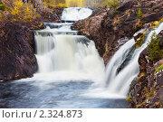 Купить «Водопад Кивач. Карелия», фото № 2324873, снято 22 сентября 2010 г. (c) Ильин Сергей / Фотобанк Лори