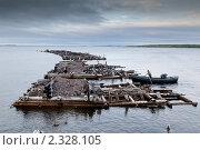 Купить «Остатки от морского причала на Белом море», фото № 2328105, снято 2 июля 2010 г. (c) Михаил Иванов / Фотобанк Лори