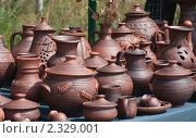 Глиняная посуда. Стоковое фото, фотограф Николай Коржов / Фотобанк Лори
